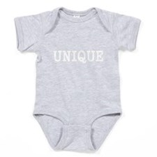 Unique-White Baby Bodysuit
