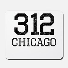 Distressed Chicago 312 Mousepad