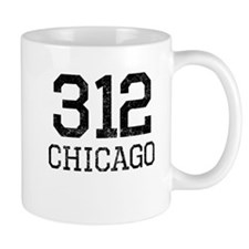 Distressed Chicago 312 Mugs