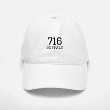 Distressed Buffalo 716 Baseball Baseball Baseball Cap