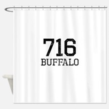 Distressed Buffalo 716 Shower Curtain