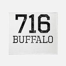 Distressed Buffalo 716 Throw Blanket