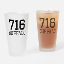 Distressed Buffalo 716 Drinking Glass