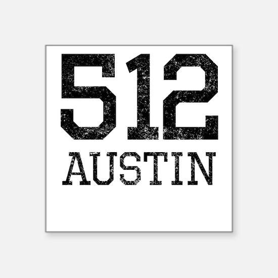 Distressed Austin 512 Sticker