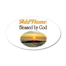 BLESSED BY GOD Wall Sticker