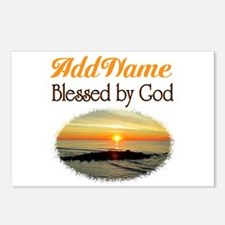 BLESSED BY GOD Postcards (Package of 8)