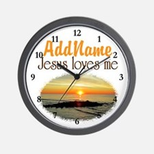 JESUS LOVES ME Wall Clock
