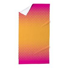 Vibrant Pink Orange Pop Art Beach Towel