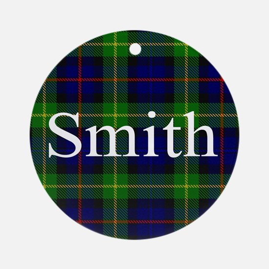 Smith Surname Tartan Ornament (Round)