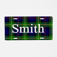 Smith Surname Tartan Aluminum License Plate