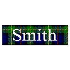 Smith Surname Tartan Bumper Car Sticker