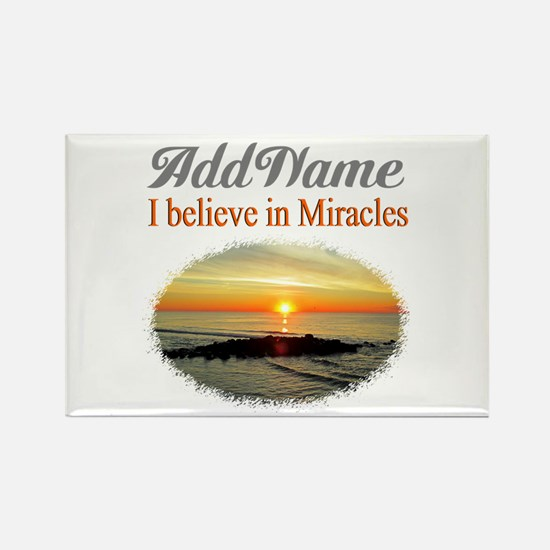 BELIEVE MIRACLES Rectangle Magnet
