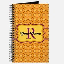 Yellow Magenta Pattern Personalized Journal