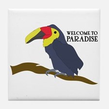 Welcome To Paradise Tile Coaster