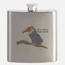 Welcome To Paradise Flask