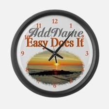EASY DOES IT Large Wall Clock