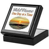 Alcoholics anonymous personalized box Square Keepsake Boxes