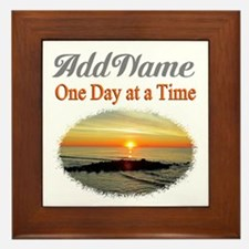 ONE DAY AT A TIME Framed Tile