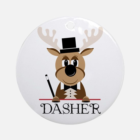 Dasher Ornament (Round)