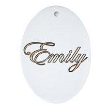 Emily Ornament (Oval)