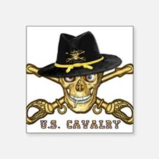 "Cool Cavalry Square Sticker 3"" x 3"""