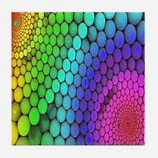 Rainbow Bubbles Tile Coaster