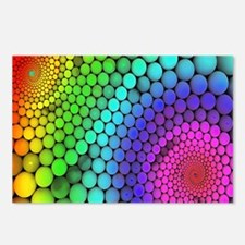 Rainbow Bubbles Postcards (Package of 8)