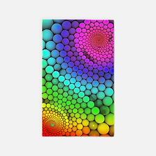 Rainbow Bubbles 3'x5' Area Rug