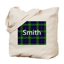 Smith Family Name Tartan Personalized Tote Bag