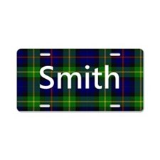 Smith Family Name Tartan Personalized Aluminum Lic