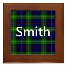 Smith Family Name Tartan Personalized Framed Tile