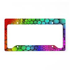 Rainbow Bubbles License Plate Holder