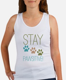 Stay Pawsitive Women's Tank Top