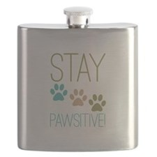 Stay Pawsitive Flask