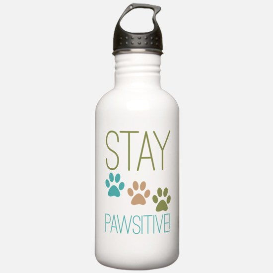 Stay Pawsitive Water Bottle