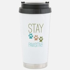 Stay Pawsitive Stainless Steel Travel Mug