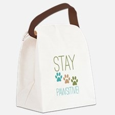 Stay Pawsitive Canvas Lunch Bag