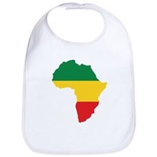 Green, Gold and Red Africa Flag Bib