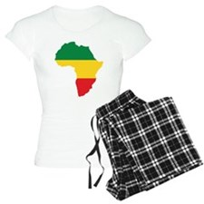 Green, Gold and Red Africa Flag pajamas