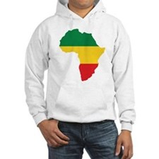 Green, Gold and Red Africa Flag Jumper Hoody