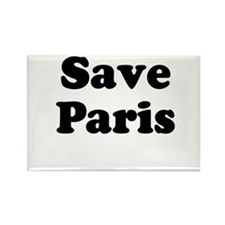 Save Paris Rectangle Magnet