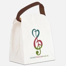 Unique Peace Canvas Lunch Bag