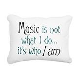 Music Rectangle Canvas Pillows