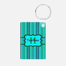 Neon Aqua Blue Bright Turq Keychains