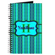 Neon Aqua Blue Bright Turquoise Personaliz Journal