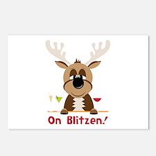 On Blitzen Postcards (Package of 8)