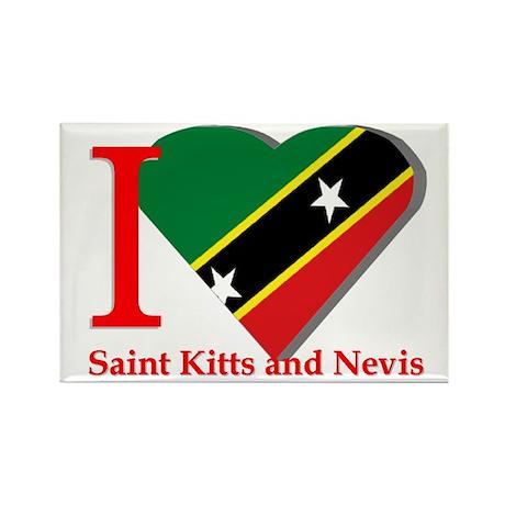 I love St Kitts & Nevis Rectangle Magnet
