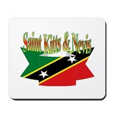 St Kitts and Nevis flag ribbon Mousepad