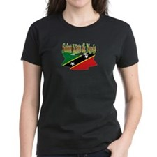 St Kitts and Nevis flag ribbon Tee