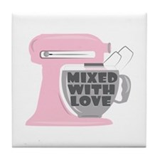 Mixed With Love Tile Coaster